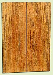 """MGES17853 - Mango, Solid Body Guitar or Bass Drop Top Set, Air Dried, Very Good Color& Curl, OutstandingGuitar Wood, Salvaged from the Big Island of Hawaii, 2 panels each 0.26"""" x 7.5"""" x 21.75"""", S2S"""