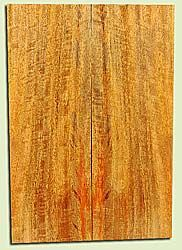 """MGES17856 - Mango, Solid Body Guitar or Bass Drop Top Set, Air Dried, Very Good Color& Curl, OutstandingGuitar Wood, Salvaged from the Big Island of Hawaii, 2 panels each 0.24"""" x 7.5"""" x 21.75"""", S2S"""
