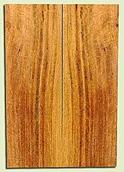 """MGES17872 - Mango, Solid Body Guitar or Bass Drop Top Set, Air Dried, Very Good Color& Curl, OutstandingGuitar Wood, Salvaged from the Big Island of Hawaii, 2 panels each 0.27"""" x 7.37"""" x 21.75"""", S2S"""