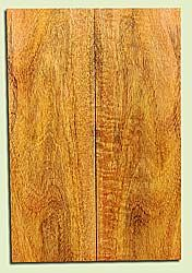 """MGES17893 - Mango, Solid Body Guitar or Bass Drop Top Set, Air Dried, Very Good Color& Contrast, OutstandingGuitar Wood, Salvaged from the Big Island of Hawaii, 2 panels each 0.26"""" x 7.37"""" x 22"""", S2S"""