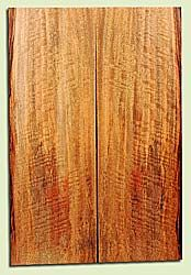 """MGES17898 - Mango, Solid Body Guitar or Bass Drop Top Set, Air Dried, Excellent Color& Curl, OutstandingGuitar Wood, Salvaged from the Big Island of Hawaii, 2 panels each 0.26"""" x 7.5"""" x 22"""", S2S"""