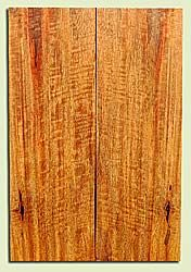 """MGES17906 - Mango, Solid Body Guitar or Bass Drop Top Set, Air Dried, Very Good Color& Curl, OutstandingGuitar Wood, Salvaged from the Big Island of Hawaii, 2 panels each 0.2"""" x 7.25"""" x 21.75"""", S2S"""
