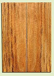 "MGES17915 - Mango, Solid Body Guitar or Bass Fat Drop Top Set, Air Dried for Excellent Colors, Very Good Color & Curl, Stellar Eco Friendly Guitar Wood, Salvaged from the Big Island of Hawaii, 2 panels each 0.31"" x 7.5"" x 22"", S2S"
