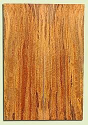 "MGES17920 - Mango, Solid Body Guitar or Bass Fat Drop Top Set, Air Dried for Excellent Colors, Very Good Color & Curl, Stellar Eco Friendly Guitar Wood, Salvaged from the Big Island of Hawaii, 2 panels each 0.45"" x 7.5"" x 22"", S2S"