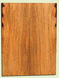 "MGES17923 - Mango, Solid Body Guitar Fat Drop Top Set, Air Dried for Excellent Colors, Good Color & Curl, Stellar Eco Friendly Guitar Wood, Salvaged from the Big Island of Hawaii, 2 panels each 0.43"" x 7.5"" x 20"", S2S"