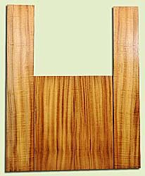 "MYAS17985 - Myrtlewood, Acoustic Guitar Back & Side Set, Dreadnought size, Med. to Fine Grain, Good Color& Contrast, Light Figure, OutstandingLuthier Wood, 2 panels each 0.18"" x 8.3"" x 20.25"", S2S, and 2 panels each 0.18"" x 5.8"" x 35.75"", S2S"