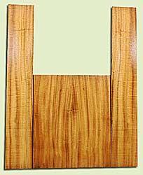 "MYAS17988 - Myrtlewood, Acoustic Guitar Back & Side Set, Dreadnought size, Med. to Fine Grain, Good Color& Contrast, Light Figure, OutstandingLuthier Wood, 2 panels each 0.18"" x 8.25"" x 20.5"", S2S, and 2 panels each 0.16"" x 5.8"" x 35.75"", S2S"