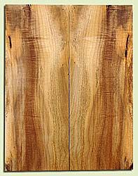 """MYES18130 - Myrtlewood, Solid Body Guitar or Bass Fat Drop Top Set, Salvaged Old Growth, Very Good Color, Light Figure , SuperiorGuitar Wood, 2 panels each 0.44"""" x 8.37"""" x 21.87"""", S2S"""