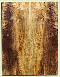 """MYES18134 - Myrtlewood, Solid Body Guitar Fat Drop Top Set, Salvaged Old Growth, Very Good Color, small cross grain crack, SuperiorGuitar Wood, 2 panels each 0.32"""" x 7.87"""" x 20.75"""", S2S"""