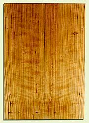 "CDES31055 - Port Orford Cedar, Solid Body Guitar Fat Drop Top Set, Salvaged Old Growth, Excellent Color & Curl, Great Guitar Wood, 2 panels each 0.39"" x 8"" x 23"", S2S"