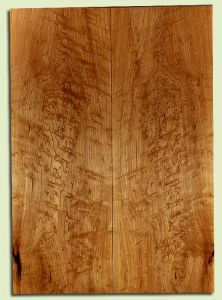 "MAES31672 - Rock Maple, Solid Body Guitar or Bass Fat Drop Top Set, Med. to Fine Grain, Excellent Color & Curl, Exquisite Luthier Tonewood, 2 panels each 0.34"" x 8"" x 22.625"", S2S"