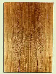 "MAES31682 - Rock Maple, Solid Body Guitar or Bass Fat Drop Top Set, Med. to Fine Grain, Excellent Color & Curl, Exquisite Luthier Tonewood, 2 panels each 0.37"" x 8"" x 23"", S2S"