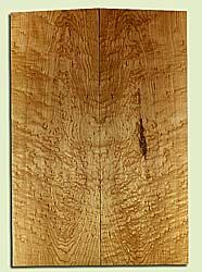 "MAES31701 - Rock Maple, Solid Body Guitar or Bass Fat Drop Top Set, Med. to Fine Grain, Excellent Color & Curl, Exquisite Luthier Tonewood, 2 panels each 0.41"" x 8"" x 23.25"", S2S"