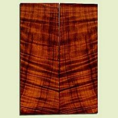 """RWSB33075 - Redwood, Solid Body Guitar Drop Top Set, Med. to Fine Grain Salvaged Old Growth, Excellent Color& Curl, GreatGuitar Wood, 2 panels each 0.19"""" x 7.75"""" x 21.875"""", S2S"""