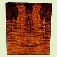 "RWSB33080 - Redwood, Solid Body Guitar Drop Top Set, Med. to Fine Grain Salvaged Old Growth, Excellent Color & Curl, Great Guitar Wood, 2 panels each 0.28"" x 7.75 to 8.125"" x 18.5"", S2S"