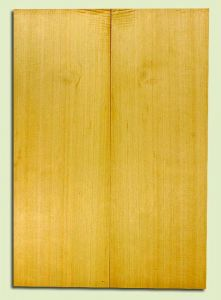 "YCSB33289 - Alaska Yellow Cedar, Acoustic Guitar Soundboard, Classical Size, Fine Grain Salvaged Old Growth, Excellent Color, Outstanding Guitar Wood, 2 panels each 0.13"" x 7.75"" x 21.75"", S2S"