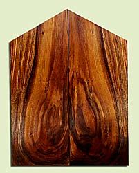 "KOES33544 - Koa, Solid Body Guitar Fat Drop Top Set, Med. to Fine Swirl Pattern Grain, Good Color, Rare Guitar Wood, 2 panels each 0.4"" x 8"" x 17.25 to 21.5"", S2S"