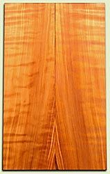 "RWES03523 - Redwood Les Paul or Bass Set, Good Curl and Color, Salvaged Old Growth.  2 panels each  .62"" x 7.5"" x 24.2""  S1S"