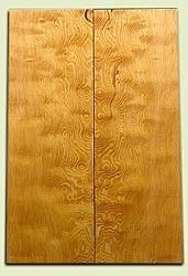 "DFES03920 - Curly Old Growth Douglas Fir Drop Top Set, Good Figure, Color and Contrast, 3/4 Sawn, Bass or Strat size.  2 panels each  .22"" x 7"" x 20.9""  S1S   Alternative Guitar Wood"