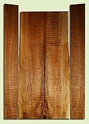"MAHAS40009 - Western Big Leaf Maple, Harp Guitar Back & Side Set, Med. to Fine Grain, Excellent Color & Curl, Premium Guitar Wood, 2 panels each 0.165"" x 10"" x 44.5"", S2S, and 2 panels each 0.16"" x 5.875"" x 47.5"", S2S"