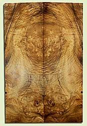 """MYES41029 - Myrtlewood, Solid Body Guitar Fat Drop Top Set, Med. to Fine Grain, Excellent Color& Curl, OutstandingGuitar Wood, Note: Bark Inclusion, 2 panels each 0.41"""" x 7.375"""" x 22.75"""", S2S"""