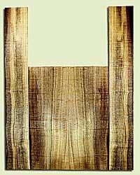 """MYAS41523 - Myrtlewood, Acoustic Guitar Back & Side Set, Med. to Fine Grain, Excellent Color& Curl, Amazing Guitar Wood, 2 panels each 0.19"""" x 8.5"""" x 22.75"""", S2S, and 2 panels each 0.17"""" x 5.25"""" x 35.5"""", S2S"""