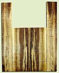 """MYAS41527 - Myrtlewood, Acoustic Guitar Back & Side Set, Med. to Fine Grain, Excellent Color& Curl, Amazing Guitar Wood, 2 panels each 0.19"""" x 8.5"""" x 22.5"""", S2S, and 2 panels each 0.18"""" x 5.25"""" x 35.375"""", S2S"""