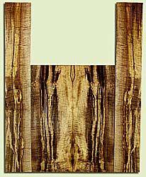 """MYAS41538 - Myrtlewood, Acoustic Guitar Back & Side Set, Med. to Fine Grain, Excellent Color& Curl, Amazing Guitar Wood, 2 panels each 0.19"""" x 8.5"""" x 22.625"""", S2S, and 2 panels each 0.17"""" x 5.5"""" x 35.5"""", S2S"""