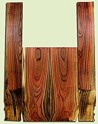 """PIAS41651 - Pistachio, Acoustic Guitar Back & Side Set, Salvaged from Commercial Grove, Excellent Color& Contrast, Extremely RareAcoustic Guitar Wood, 2 panels each 0.18"""" x 8 to 8.5"""" x 22.5"""", S2S, and 2 panels each 0.17"""" x 4.625 to 5.125"""" x 35.875"""", S2S"""