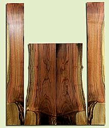 """PIAS41653 - Pistachio, Acoustic Guitar Back & Side Set, Salvaged from Commercial Grove, Excellent Color& Contrast, Extremely RareAcoustic Guitar Wood, Thickness sanding on request., 2 panels each 0.38"""" x 7.375"""" x 23.125"""", S2S, and 2 panels each 0.17"""" x"""