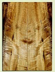 """MYES41953 - Myrtlewood, Solid Body Guitar or Bass Carved Top Set, Med. to Fine Grain, Excellent Color& Curl, GreatGuitar Wood, Note: Check outside of layout, 2 panels each 0.91"""" x 7.625"""" x 21.125"""", S2S"""