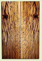 """MYES42020 - Myrtlewood, Solid Body Guitar Fat Drop Top Set, Med. to Fine Grain, Excellent Color& Curl, GreatGuitar Wood, Note: Knot, 2 panels each 0.35"""" x 7.375"""" x 22.625"""", S2S"""