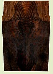 "WAES42037 - Claro Walnut, Solid Body Guitar Drop Top Set, Med. to Fine Grain, Excellent Color & Curl, Great Guitar Wood, Check; Bark Inclusion, 2 panels each 0.23"" x 7.5"" x 23.625"", S2S"