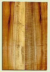 "MYES42426 - Myrtlewood, Solid Body Guitar Drop Top Set, Med. to Fine Grain, Excellent Color& Curl, GreatGuitar Wood, 2 panels each 0.16"" x 7.5"" x 22.75"", S2S"