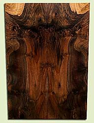 """WAES42612 - Claro Walnut, Solid Body Guitar Drop Top Set, Salvaged from Commercial Grove, Excellent Color, Eco-FriendlyGuitar Wood, Bark Inclusions, 2 panels each 0.25"""" x 7.875"""" x 22.625"""", S2S"""