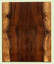 "WAES42624 - Claro Walnut, Solid Body Guitar Drop Top Set, Salvaged from Commercial Grove, Excellent Color, Eco-Friendly Guitar Wood, knot hole, 2 panels each 0.21"" x 8"" x 19.5"", S2S"