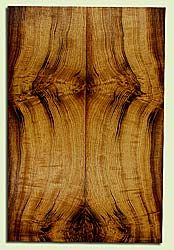 "MYES42657 - Myrtlewood, Solid Body Guitar or Bass Drop Top Set, Med. to Fine Grain, Excellent Color, Great Guitar Wood, Note: bark inclusions, 2 panels each 0.21"" x 7.625"" x 23"", S2S"