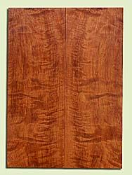 "RWES42764 - Redwood, Solid Body Guitar Fat Drop Top Set, Very Fine Grain Salvaged Old Growth, Excellent Color & Curl, Exquisite Guitar Wood, 2 panels each 0.38"" x 8"" x 22.5"", S2S"