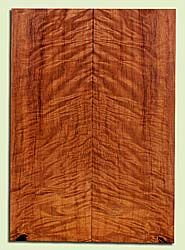 "RWES42766 - Redwood, Solid Body Guitar Fat Drop Top Set, Very Fine Grain Salvaged Old Growth, Excellent Color & Curl, Exquisite Guitar Wood, 2 panels each 0.38"" x 8"" x 23"", S2S"