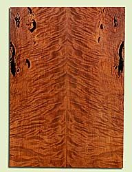 "RWES42768 - Redwood, Solid Body Guitar Fat Drop Top Set, Very Fine Grain Salvaged Old Growth, Excellent Color & Curl, Exquisite Guitar Wood, Bark inclusions, 2 panels each 0.37"" x 8"" x 22.625"", S2S"