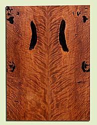 "RWES42776 - Redwood, Solid Body Guitar Fat Drop Top Set, Very Fine Grain Salvaged Old Growth, Excellent Color & Curl, Exquisite Guitar Wood, Bark Inclusion, 2 panels each 0.39"" x 8"" x 22.125"", S2S"