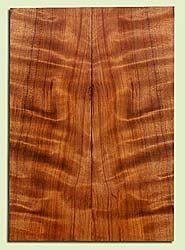 "RWES42793 - Redwood, Solid Body Guitar Drop Top Set, Very Fine Grain Salvaged Old Growth, Excellent Color & Curl, Exquisite Guitar Wood, 2 panels each 0.29"" x 8.125"" x 23"", S2S"
