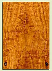 """CDES43544 - Port Orford Cedar, Solid Body Guitar Drop Top Set, Salvaged Old Growth, Excellent Color& Curl, OutstandingGuitar Wood, Note: There is a knot in this set, 2 panels each 0.28"""" x 7.5"""" x 21.5"""", S2S"""