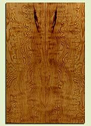 """DFES43709 - Douglas Fir, Solid Body Guitar Drop Top Set, Med. Grain Salvaged Old Growth, Excellent Color& Contrast, ExquisiteGuitar Wood, Note: There is a bark inclusion in this set, 2 panels each 0.22"""" x 7.75"""" x 23.25"""", S2S"""