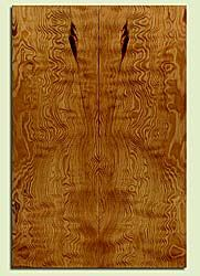 """DFES43710 - Douglas Fir, Solid Body Guitar Drop Top Set, Med. Grain Salvaged Old Growth, Excellent Color& Contrast, ExquisiteGuitar Wood, Note: There is a bark inclusion in this set, 2 panels each 0.24"""" x 7.75"""" x 23.25"""", S2S"""