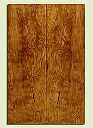 """DFES43733 - Douglas Fir, Solid Body Guitar Drop Top Set, Med. Grain Salvaged Old Growth, Excellent Color& Contrast, ExquisiteGuitar Wood, Note: There is a bark inclusion in this set, 2 panels each 0.27"""" x 7.5"""" x 23.25"""", S2S"""