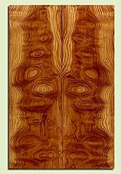 "DFES43756 - Douglas Fir, Solid Body Guitar Drop Top Set, Med. Grain Salvaged Old Growth, Excellent Color & Contrast, Exquisite Guitar Wood, Note: There are checks in this set, 2 panels each 0.27"" x 7.5"" x 23.25"", S2S"