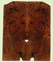 """MAES43942 - Western Big Leaf Maple, Solid Body Guitar Drop Top Set, Med. to Fine Grain, Excellent Color, OutstandingGuitar Wood, Note:  This set has bark inclusions and voids., 2 panels each 0.28"""" x 8.375"""" x 21.25"""", S2S"""