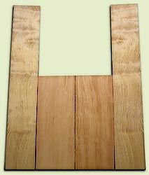 "DFAS07249 - Curly Douglas Fir Acoustic Guitar Back & Side Set, Good Figure, Fine Grain Old Growth, Awesome Tap Tone, OM or Classical size.  2 panels each  .20"" x 8"" x 20"" and 2 panels each  .17"" x 6"" x 36""  S1S  Amazing Guitar Wood"