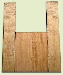 "DFAS07250 - Curly Douglas Fir Acoustic Guitar Back & Side Set, Good Figure, Fine Grain Old Growth, Awesome Tap Tone, OM or Classical size.  2 panels each  .20"" x 8"" x 20"" and 2 panels each  .17"" x 6"" x 36""  S1S  Alternative Guitar Wood"